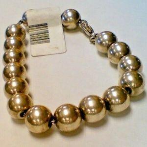 Tiffany & Company Bead Ball Bracelet Band Sterling